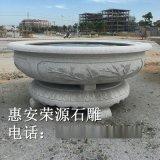 石雕水缸 别墅庭院养鱼石缸 青石水缸定制