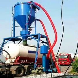 湖南水泥干灰粉料自吸式输送设备仓储粉煤灰吸料装车机