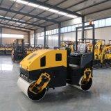 汽油动力座驾式压路机 小型座驾式双钢轮压路机