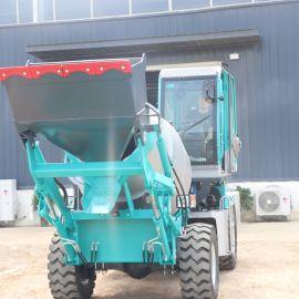 建筑工地专用混凝土搅拌车 自动上料搅拌车