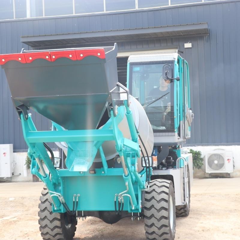 建築工地專用混凝土攪拌車 自動上料攪拌車