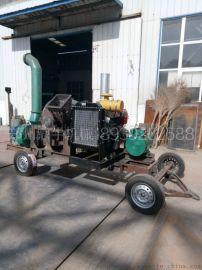 厂家直销爆款碎木机 原木枝杈树叶粉碎机 可移动式园林柴油木屑机