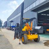 新款護欄打樁機建橋修路全液壓裝載式鋼護欄打樁機