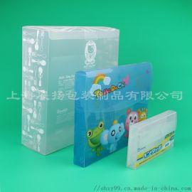PET PVC PP透明折叠收纳盒、礼品文具盒