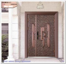 别墅大门图片 现代铝板雕刻别墅入户门设计效果图大全