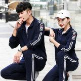 跨境运动套装男女情侣休闲跑步锻炼长袖外套出口