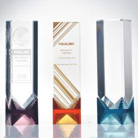 琉璃奖杯定制琉璃水晶奖杯奖牌创意定做现货内雕刻字