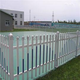 汕尾PVC塑钢草坪护栏 别墅庭院围栏 耐晒防腐材质