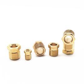 油管接头密封圈双锥卡套油管衬套油令子铜油路