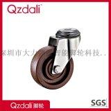 中型不繡鋼咖啡色耐溫280度腳輪