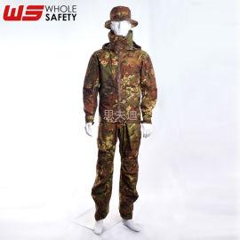 思夫迪上海廠家供應迷彩套裝 塗層防潑水迷彩服