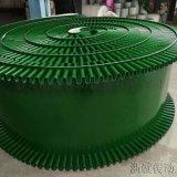 绿色裙边输送带 PVC挡板皮带