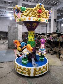 专业生产新型游乐设备儿童小转马游乐设施转马