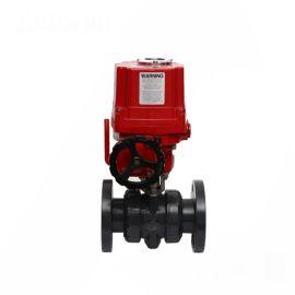 进口电动塑料球阀-PVC-U, PVC-C, PP