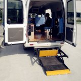 面包车尾门无障碍升降机 轮椅半自动上下车升降平台