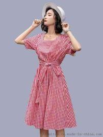水之戀夏季連衣裙貨源 武漢大碼女裝走份尾貨市場