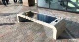 厂家定制太阳能户外休闲椅|太阳能景观椅子公共设计