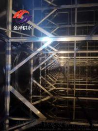 金泽不锈钢方形水箱厂家安装
