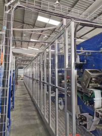 卫生设备工业铝型材安全门制造 生产厂家澳宏铝业