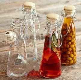 新款瓶密封瓶玻璃瓶酸奶瓶手提瓶果汁瓶奶茶瓶泡茶瓶