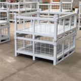 折叠式围栏托盘箱 货架周转箱 川字型金属料箱