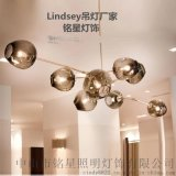 Lindsey Adelman后现代玻璃球吊灯服装店酒吧吊灯创意咖啡厅灯具