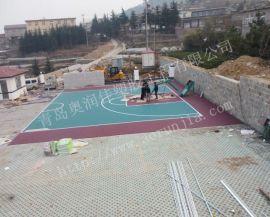 耐寒篮球场地板-易铺装地板