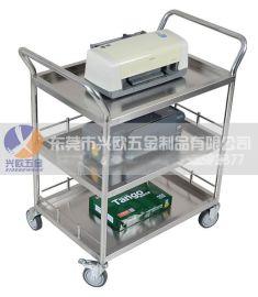 空间帮不锈钢推车送餐车二层推车