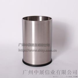 专业生产SITTY斯迪92. N200SA砂光无焊缝不锈钢圆形客房桶/垃圾桶