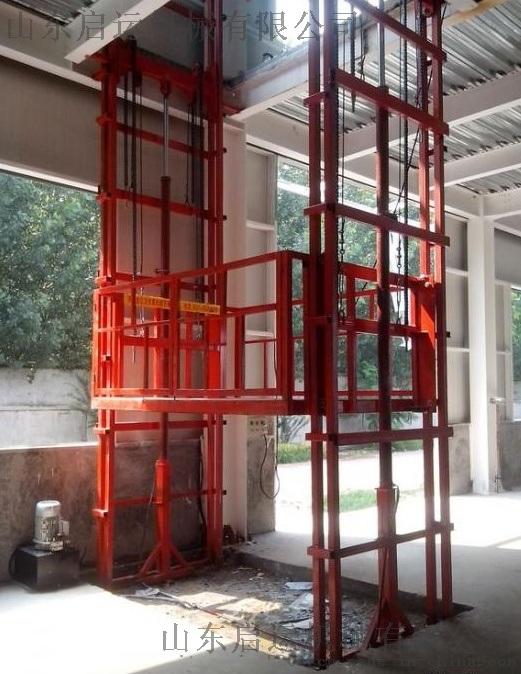 启运 河北石家庄热销启运 QYDG导轨式升降货大吨位梯液压升降平台电动升降机 导轨式升降台