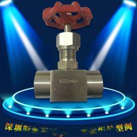 高压电厂J61Y-160p承插焊针型阀不锈钢焊接针型阀焊仪表截止阀