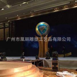 厂家定制泡沫雕塑摆件 舞台场地布置道具泡沫球加闪粉