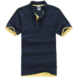 夏季時尚休閒男 女翻領短袖T恤diy來圖定制員工工作服廣告衫上衣