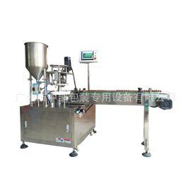 【厂家直销】膏液灌装压塞旋盖一体机 全自动卡盘式液体灌装线