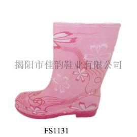 揭阳厂家供应儿童线条图纹时尚雨鞋