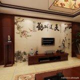 客廳電視背景牆裝修定製個性化瓷磚背景牆壁畫,高端大氣上檔次。