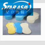 供应水滴海绵化妆棉美容清洁化妆棉 厨房去污海绵木浆棉