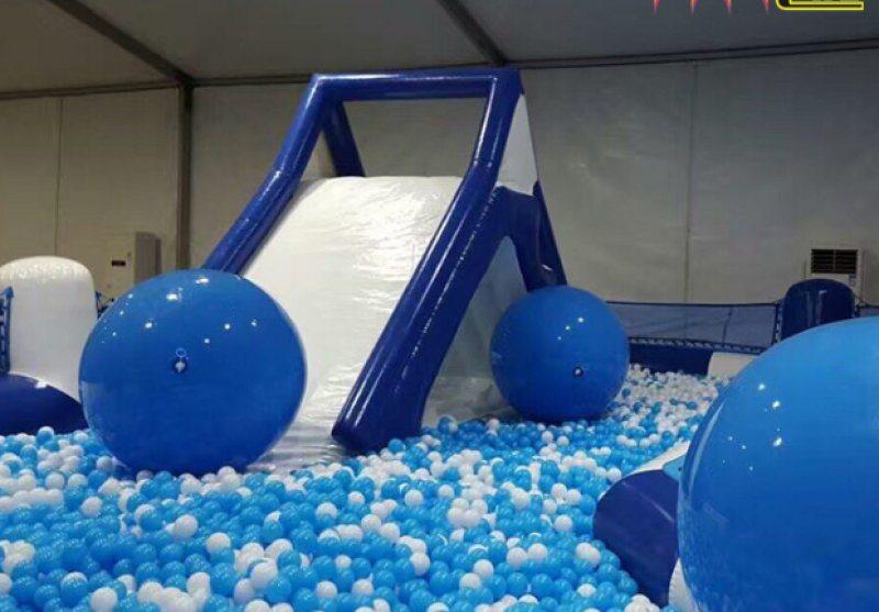 兒童充氣水晶宮遊樂產品質保三年廣場新款遊樂