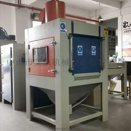 东莞喷砂机-太阳能配件表面处理自动转盘喷砂机