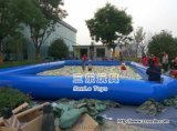 三樂廠家生產的充氣水池採用一等PVC布料定製的
