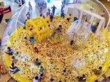百万海洋球鲸鱼岛出租透明水晶海洋球池出租