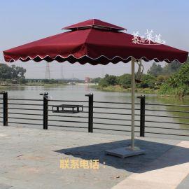 慕思莱藤家具供应MS-03单边太阳伞 边柱伞 广告遮阳伞