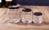 食品透明蜂蜜儲物密封罐果醬瓶醬菜瓶六棱蜂蜜玻璃瓶罐頭瓶燕窩瓶