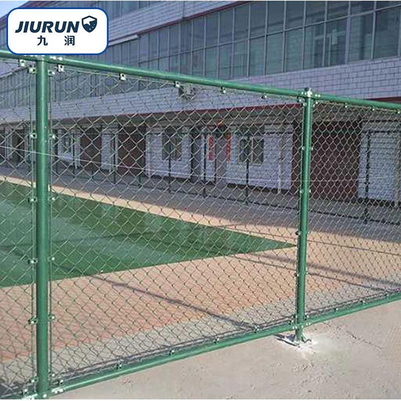 運動場球場圍網 鐵絲網勾花圍欄網 4*3米球場圍網