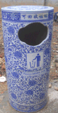 景德鎮陶瓷垃圾桶加工廠定製各類陶瓷垃圾桶果皮箱定做