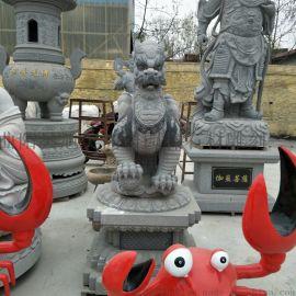 石雕麒麟望天吼 庭院神兽镇宅招财貔貅雕塑