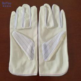 防静电掌面涂层手套PU涂掌手套条纹手套生产厂家