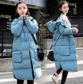 年底便宜清女装棉衣羽绒服中长款棉服低价清韩版棉衣清