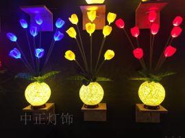 郁金香花朵灯小台灯鲜花灯装饰灯小夜灯