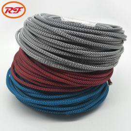 加工定制尼龙W纹编织数据线 电线外层编织加工